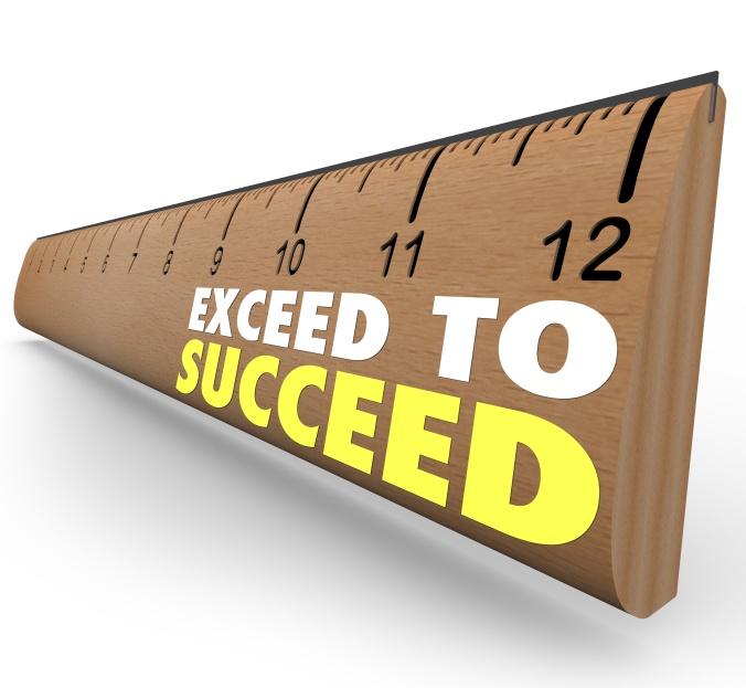 Exceed to Succeed Extra Credit Above and Beyond Ruler